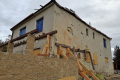 Stav domu po výbuchu