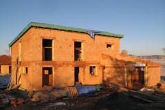 Rodinný dům Myslkovice - průběh stavby